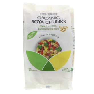 clearspring soya chunks 200