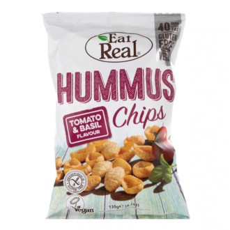 Eat Real Tomato and Basil Hummus Chips 40g Gluten Free